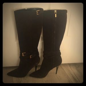 Authentic Burberry Dark Brown Suede Boot